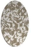 rug #962625 | oval white rug
