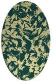 rug #962649 | oval yellow rug
