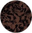 rug #963061 | round brown rug