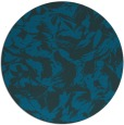 rug #963109 | round blue-green rug