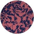rug #963141 | round pink rug