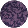 rug #963145   round purple natural rug