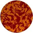 rug #963245   round red-orange natural rug