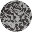 rug #963257 | round red-orange natural rug