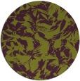 rug #963281 | round purple natural rug