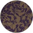 rug #963285 | round purple natural rug