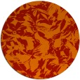 rug #963297   round orange natural rug