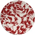 rug #963301 | round red rug
