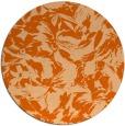 rug #963313   round red-orange natural rug