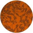 rug #963317   round red-orange rug