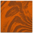 rug #964037 | square red-orange abstract rug