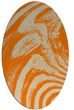 rug #964125 | oval orange stripes rug