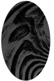rug #964133 | oval black graphic rug