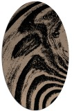 rug #964137 | oval black stripes rug