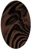 rug #964141 | oval black graphic rug