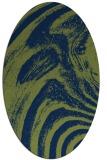 rug #964169 | oval blue rug
