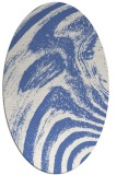 rug #964173 | oval blue abstract rug