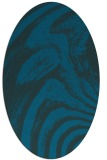 rug #964193 | oval blue abstract rug