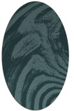 rug #964201 | oval blue-green abstract rug