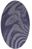 rug #964217 | oval blue-violet graphic rug