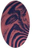 rug #964221 | oval pink rug