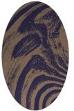 rug #964233 | oval blue-violet rug