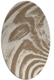 rug #964277 | oval mid-brown natural rug