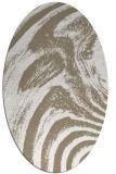 rug #964281   oval white stripes rug