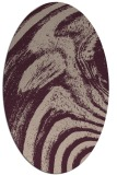 rug #964285 | oval pink natural rug