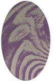 rug #964309 | oval beige stripes rug