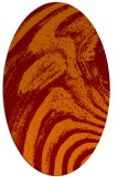 rug #964325 | oval orange rug