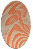 rug #964333 | oval orange graphic rug