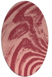 rug #964349 | oval pink rug