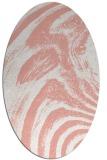 rug #964353 | oval white stripes rug