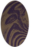 rug #964365 | oval purple graphic rug