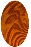 rug #964389 | oval red-orange stripes rug