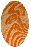 rug #964393 | oval red-orange abstract rug