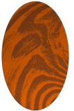 rug #964397 | oval red-orange stripes rug