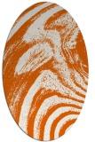 rug #964401 | oval red-orange stripes rug
