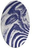 rug #964414 | oval abstract rug