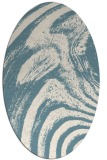 rug #964421   oval white stripes rug