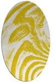 rug #964441 | oval yellow graphic rug
