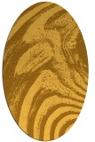 rug #964445 | oval light-orange abstract rug