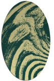 rug #964449 | oval blue-green abstract rug
