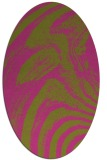 rug #964461 | oval light-green rug
