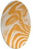 rug #964481 | oval light-orange abstract rug