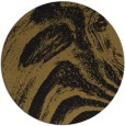 rug #964865 | round black abstract rug