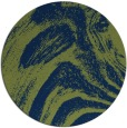 rug #964889 | round green abstract rug