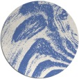 rug #964893 | round blue stripes rug