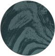 rug #964921 | round blue-green abstract rug